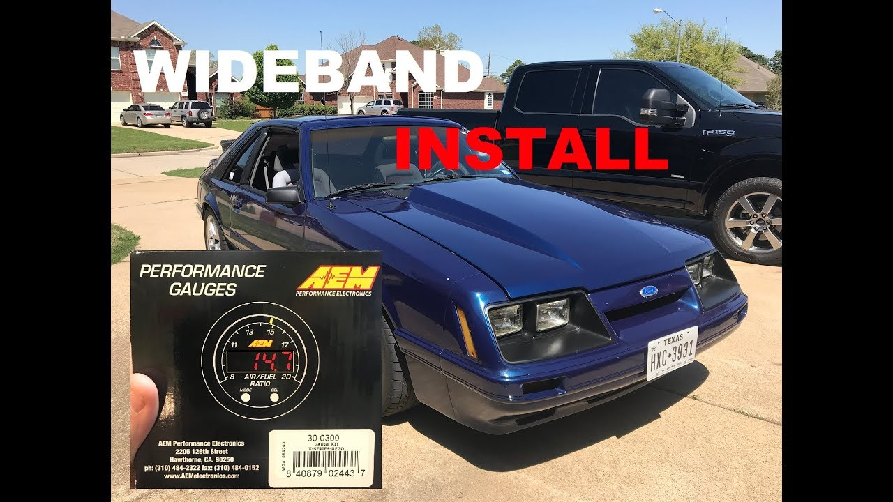 1986 Mustang Gt Project Aem Wideband A F Ratio Gauge Install Youtube Air Fuel Wiring