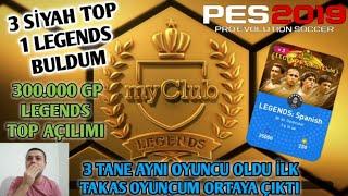 3 Sİyah Top 1 Efsane Buldum - Pes 2019 Myclub Top AÇilimi