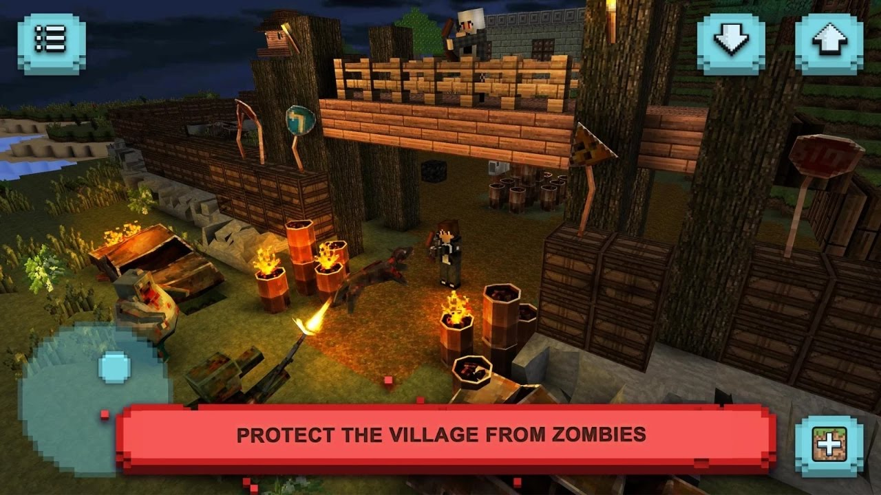 Zombie survival craft defense android gameplay youtube for Survival crafting games pc