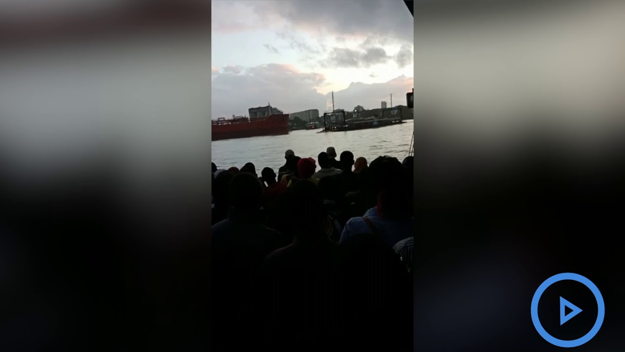 Ferry, ship in near collision at Likoni - VIDEO
