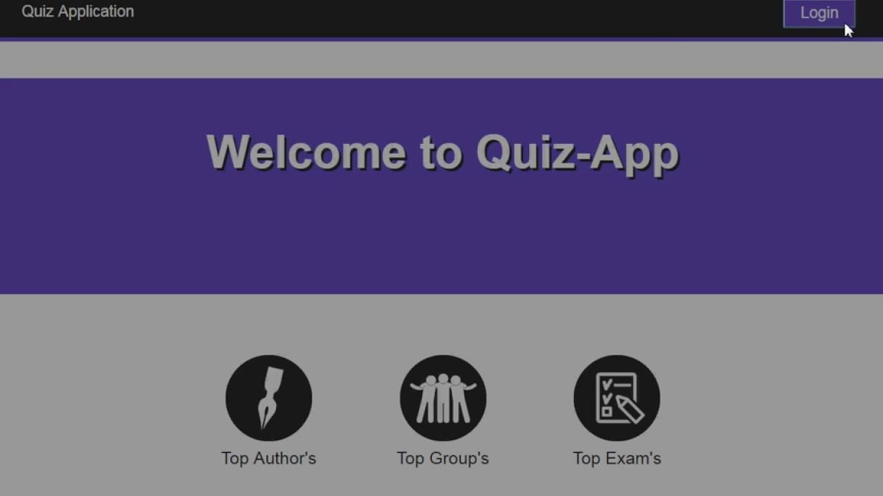 Quiz Application using JS 2017