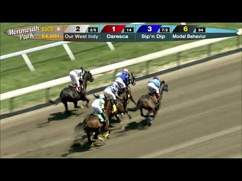 video thumbnail for MONMOUTH PARK 6-6-21 RACE 6