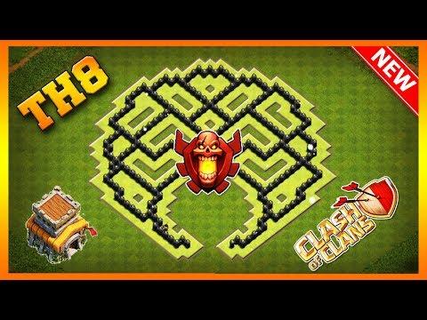 Clash Of Clans Best Town Hall 8 (TH8) Farming Base 2019 | TH8 Farming Base Anti Everything