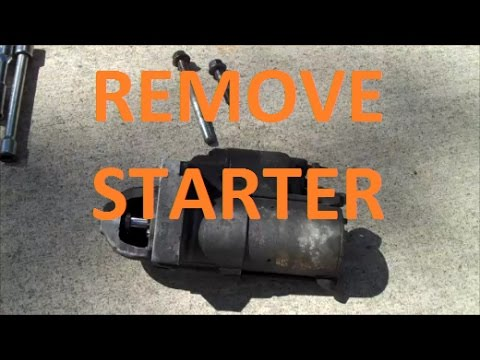 how to remove replace a starter (3100 3400 v6 gm easy)