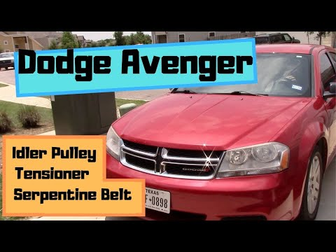 How to replace serpentine belt, tensioner and idler pulley on Dodge Avenger (Fix engine noise!)