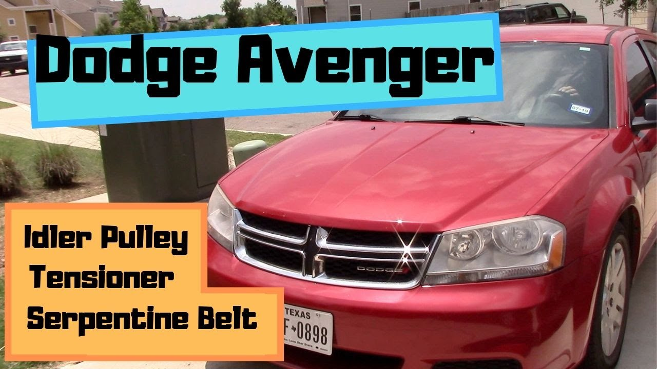 How To Replace Serpentine Belt Tensioner And Idler Pulley On Dodge Avenger Fix Engine Noise Youtube