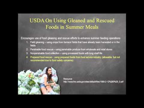 Using Donated Foods in the Summer Meals Program