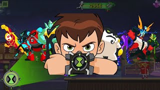 All Alien Transformation Ben 10 Alien Run Game Gameplay Powers & Abilities Review with Commentary screenshot 3
