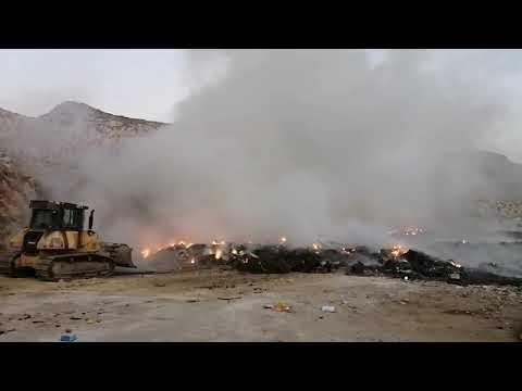 Μία ακόμη φωτιά και μαύροι καπνοί στην Χωματερή Καλύμνου
