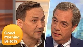 Nigel Farage Becomes Passionate During Brexit Trade Debate | Good Morning Britain