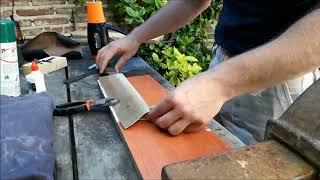 Como hacer una funda de PVC How to make a PVC knife sheath