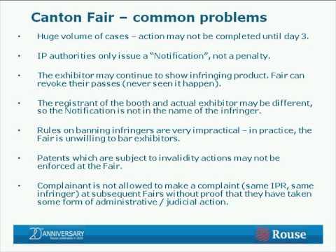 Protection of IP at Trade Fairs