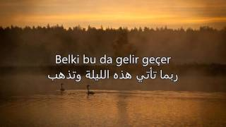 أغنية تركية حزينة روعة مترجمة - Linet - Şu Saniye - Arabic Translation