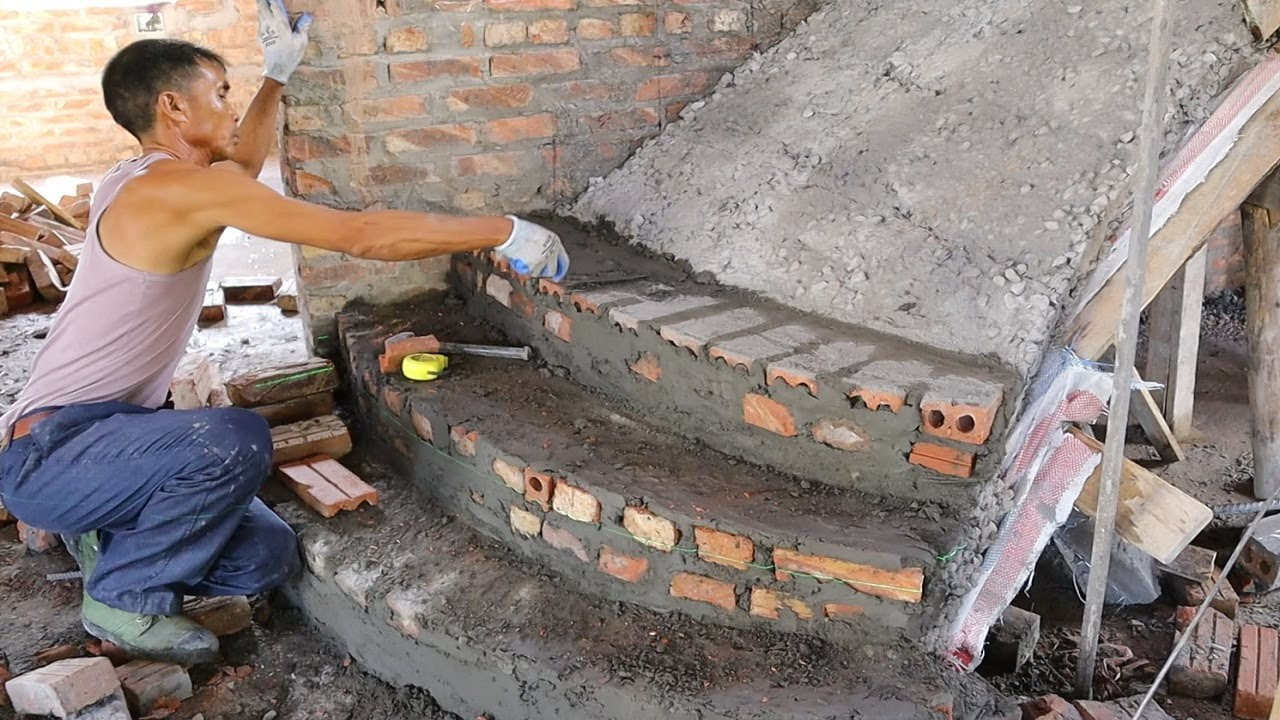 Design and Build Stair In The Home - Traditional Brick Stair, How To Construction