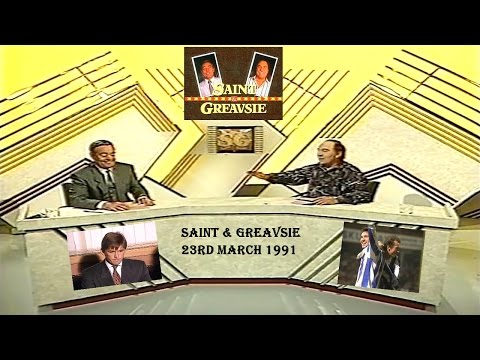 SAINT AND GREAVSIE SHOW -  23RD MARCH 1991 - ITV FOOTBALL PROGRAME