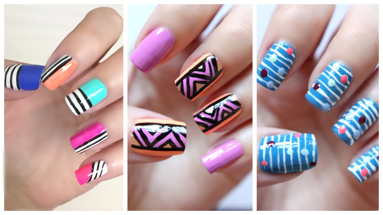 Easy nail art for beginners 20 jennyclairefox youtube prinsesfo Choice Image
