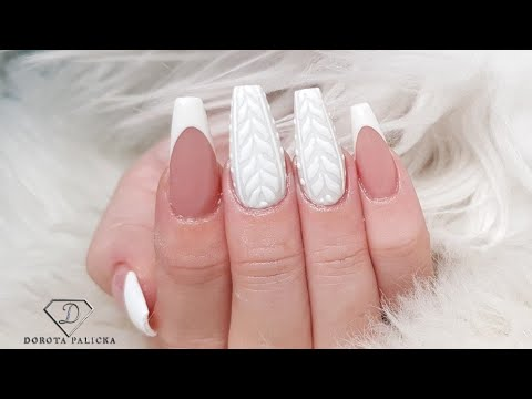 Download How to do french manicure gel nail extensions. Jumper nails. Sweater nail art