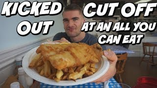 CUT OFF AT AN AYCE/BUFFET..Kinda? - English Fish and Chips - Secret Location