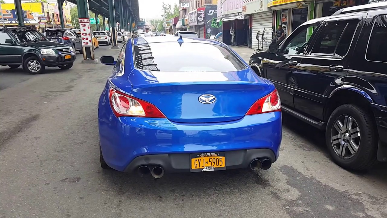 Genesis coupe 2 0t cnt v3 turbo back exhaust