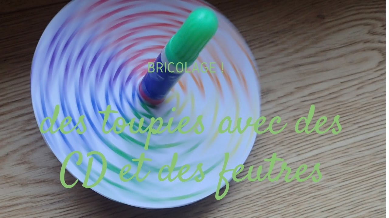 Souvent How to make a spinning top with an old CD - YouTube PX67