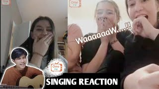 Indonesian Boy Surprises Russian girls with Russian Song ( Singing Reaction ) OmeTv