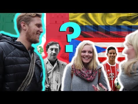 What do GERMANS think about COLOMBIA?  (& Mexico, Peru, Puerto Rico)