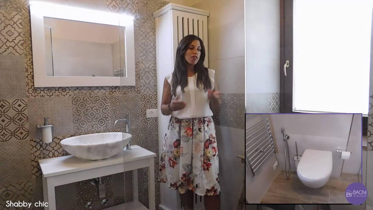 Ristrutturazione bagno completo Shabby Chic Cementine - YouTube