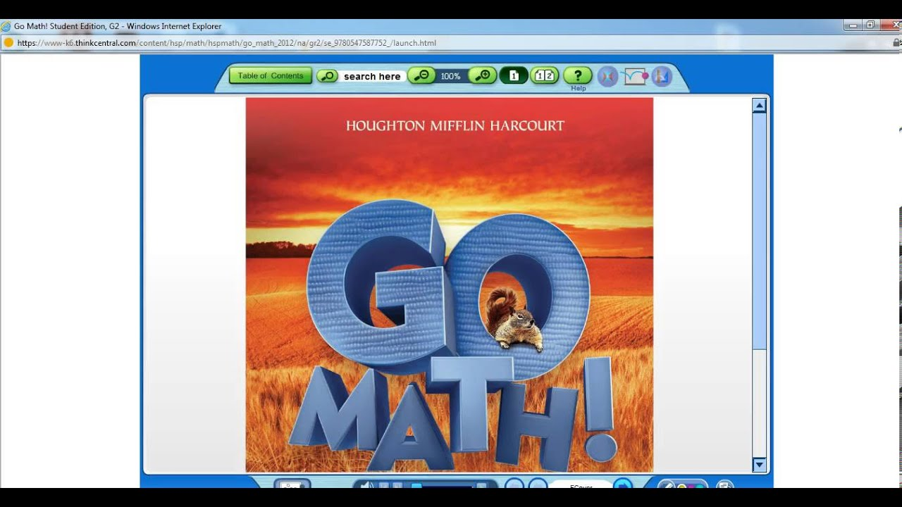 Think Central Student/Parent Access for Go Math digital products ...