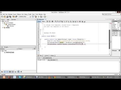 How to Generate Excel in Java and Write data