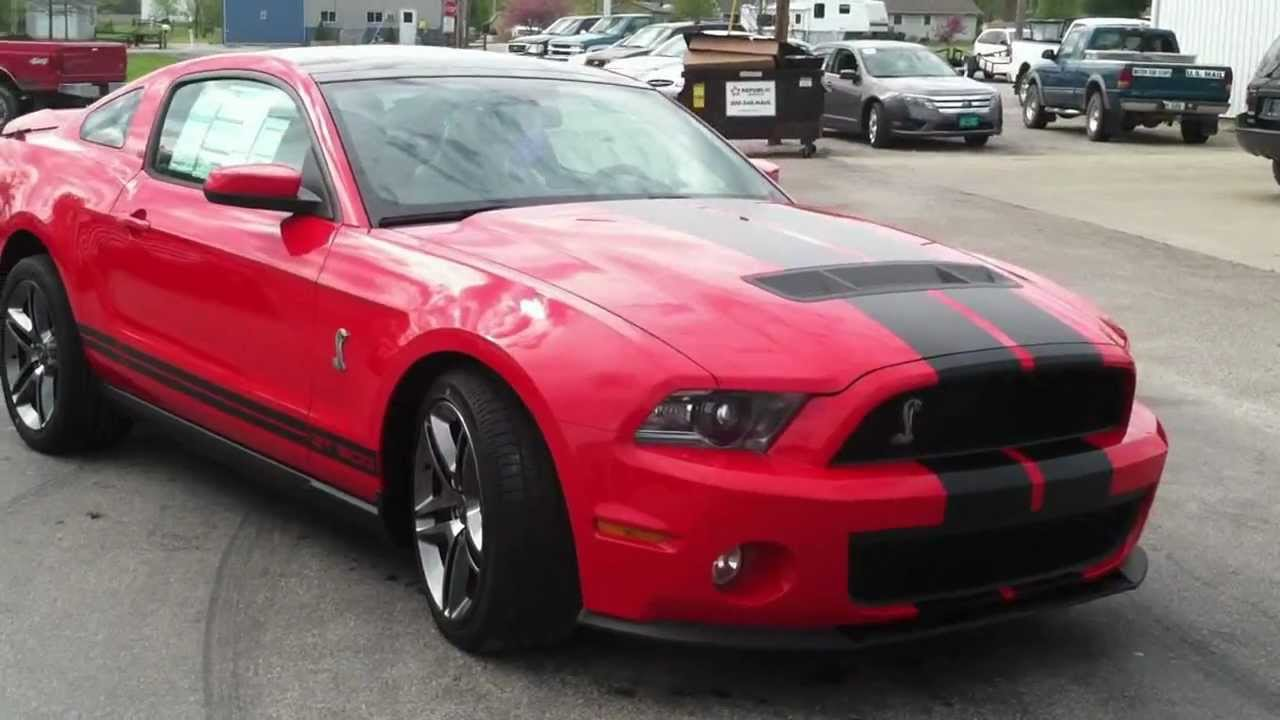 New 2011 Ford Mustang Shelby Cobra Gt 500 Red Blk Youtube
