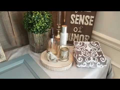 Powder Room Makeover Part 2/ Bathroom Cabinet Color Plus New Accessories