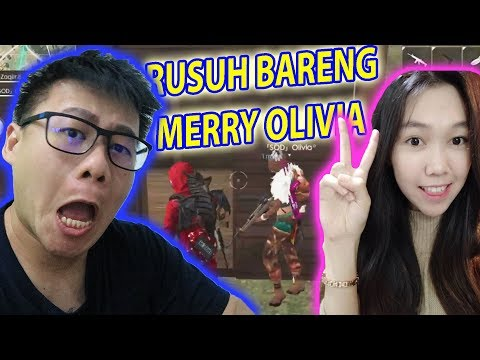 RUSUH TRIO VS SQUAD BARENG MERRY OLIVIA - FREE FIRE INDONESIA #37