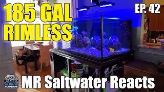 185 Gallon RIMLESS Mixed Reef …