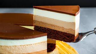 Лучший десерт в вашей жизни Муссовый торт Три шоколада теперь у вас дома Appetitno TV