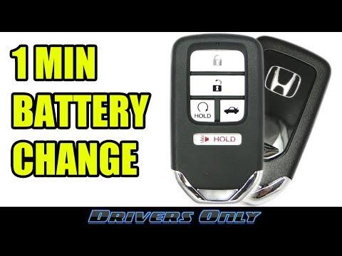 Honda Key FOB Battery Change (Smart Key Remote) - For Accord, Civic, CRV, Pilot, Odyssey, Ridgeline