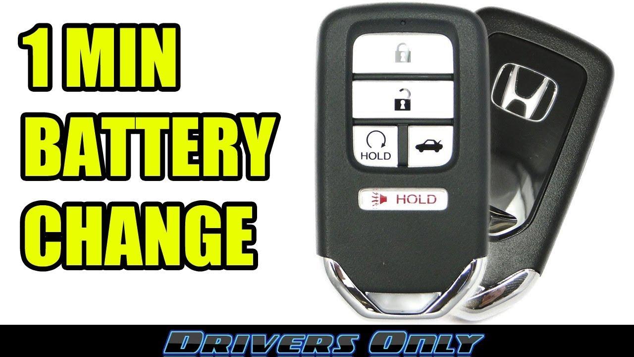 Honda Key Fob Battery Change Smart Key Remote For Accord Civic Crv Pilot Odyssey Ridgeline Youtube