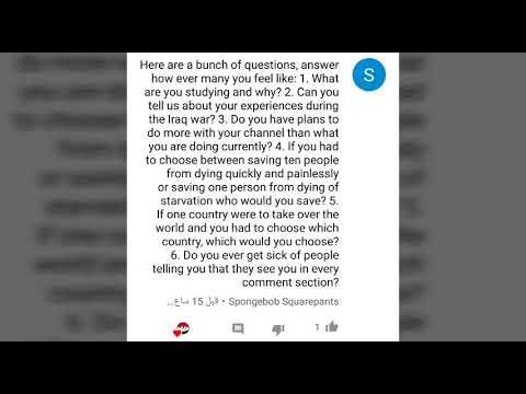 Q&A answers