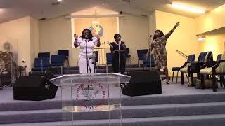 Bishop Arthur Pierce at Greater Emmanuel Grace Apostolic Church