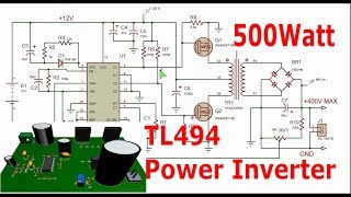 Make A 1500w Power Inverter With Tl494 12 240v Ac | MP3IKON TK