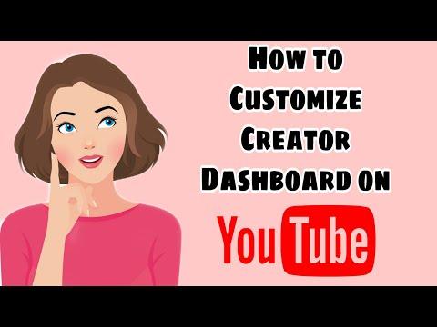 How to Customize Creator Dashboard on YouTube