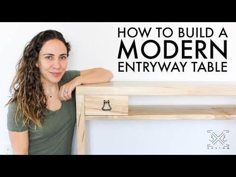 Making an Entryway Table // Live-edge shelf // Box Joint // Drawer