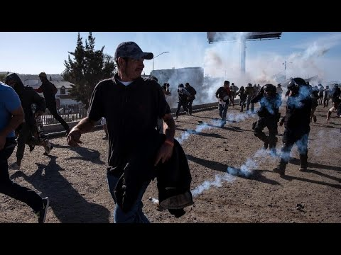 Migrants Hit With Tear Gas While Trying to Cross Into U.S. From Mexico Mp3