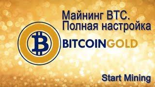Майнинг Bitcoin Gold (BTC). Полная настройка AMD + NVIDIA