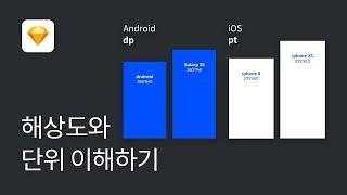 #3 앱 UI 디자인의 시작, OS 별 해상도 및 안드로이드 DP 단위 - 스케치 강좌