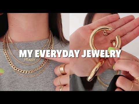 MY EVERYDAY JEWELRY: Gold Chains, Chunky Hoops, Rings!