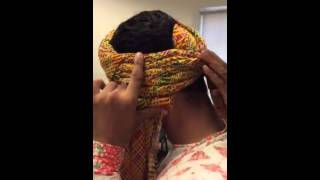 Repeat youtube video How to tie a safa