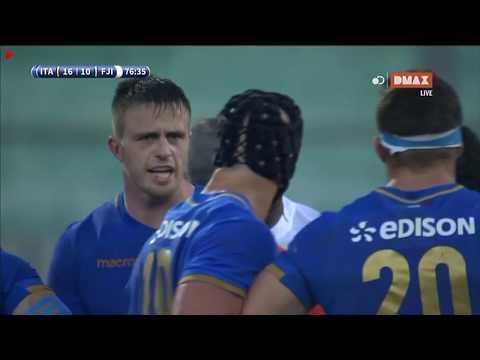 Rugby:Test Match ITALIA vs ISOLE FIJI 11/11/2017 Calcio di punizione di McKinley