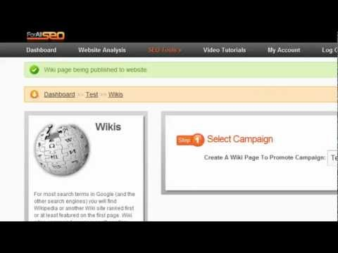 Wiki Submission Tool - For All SEO