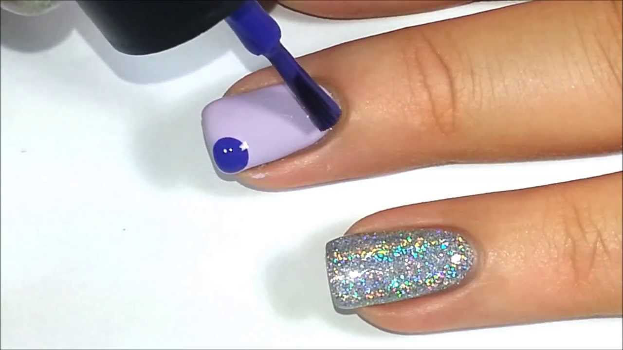 Dry Marbling Nail Art Tutorial - YouTube