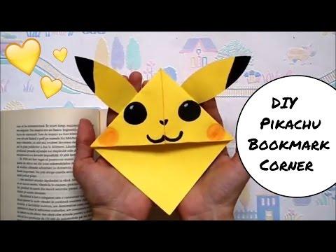 DIY Pikachu Bookmark Corner | Pokemon Go | Easy back to school supplies | Easy paper craft